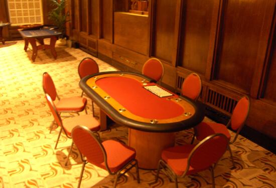 Pokertafel rood