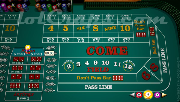Craps betting martingale systeem
