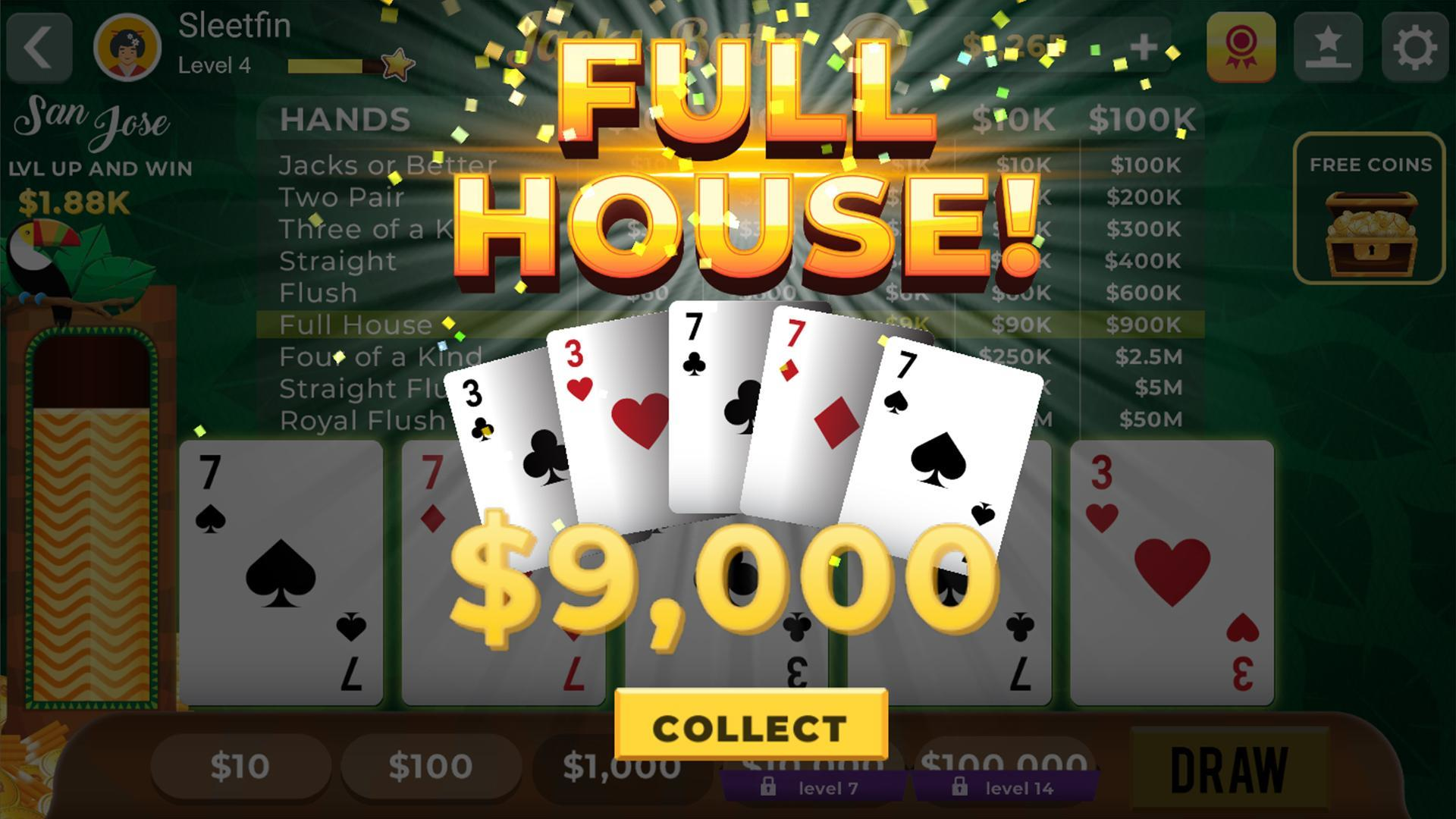 video poker spelen