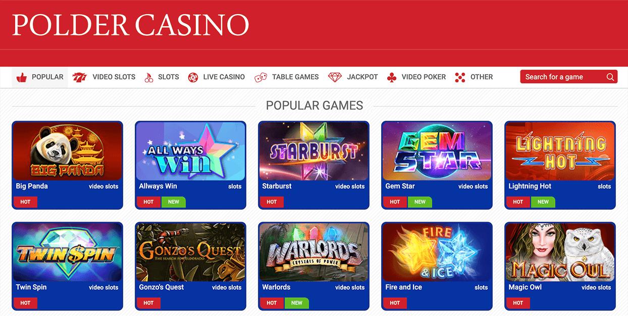 Polder-casino spelaanbod