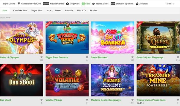Unibet Casino spellen